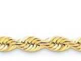 22 Inch 14k 6mm Handmade Regular Rope Chain style: 040S22
