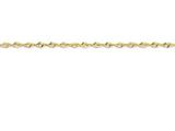 9 Inch 10k 2.55mm Diamond Cut Extra-lite Rope Chain Ankle Bracelet style: 10EX0219