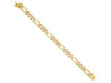 8 Inch 10k 9mm Hand Polished Figaro Chain Bracelet style: 10LK1098