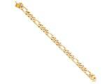 8 Inch 10k 9mm Hand Polished Figaro Chain Bracelet style: 10LK1098