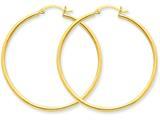 10k Polished 2mm Round Hoop Earrings style: 10T920