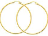 10k Polished 2mm Round Hoop Earrings style: 10T923