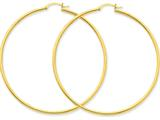 10k Polished 2mm Round Hoop Earrings style: 10T924