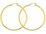 10k Polished 2.5mm Round Hoop Earrings style: 10T928