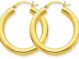 10k Polished 4mm X 30mm Tube Hoop Earrings style: 10T949