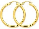 10k Polished 4mm X 45mm Tube Hoop Earrings style: 10T951