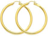 10k Polished 4mm X 60mm Tube Hoop Earrings style: 10T954