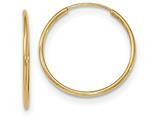 10k Polished Endless Tube Hoop Earrings style: 10T964