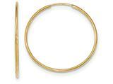 10k Polished Endless Tube Hoop Earrings style: 10T966