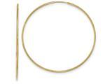 10k Polished Endless Tube Hoop Earrings style: 10T968