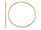 10k Polished Endless Tube Hoop Earrings style: 10T970