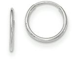 10k White Gold Endless Hoop Earrings style: 10T973