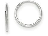 10k White Gold Endless Hoop Earrings style: 10T974