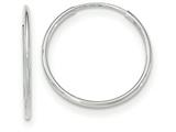 10k White Gold Endless Hoop Earrings style: 10T976