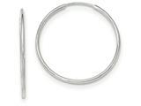 10k White Gold Endless Hoop Earrings style: 10T977