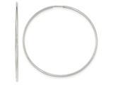 10k White Gold Endless Hoop Earrings style: 10T982