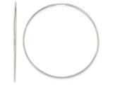 10k White Gold Endless Hoop Earrings style: 10T984