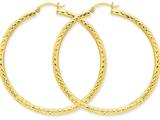 10k Bright-cut 3mm Round Hoop Earrings style: 10TC272