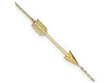 9 Inch 14k Polished Arrow W/1 In Ext Anklet style: ANK2759