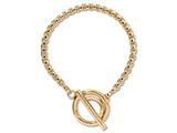 Nikki Lissoni Gold-tone Rolo Chain Toggle Bracelet style: B1010G75