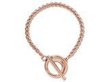 Nikki Lissoni Rose-tone Rolo Chain Toggle Bracelet style: B1010RG75