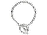Nikki Lissoni Silver-tone Rolo Chain Toggle Bracelet style: B1010S85