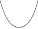 24 Inch 14k White Gold 2mm Wheat Hollow Chain style: BC12624