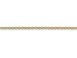 16 Inch 14k 2mm Hollow Rolo Chain style: BC14516