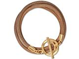 Nikki Lissoni Beige Leather Wrap Bracelet style: BLCG05GL