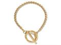 Nikki Lissoni Gold-tone Rolo Chain Toggle Bracelet