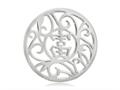 Nikki Lissoni Silver- Tone 33mm Chinese Lucky Coin