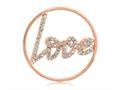 Nikki Lissoni Rose-tone 33mm Clear Swarovski® Sparkling Love Coin
