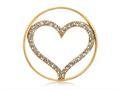 Nikki Lissoni Gold-tone 33mm Clear Swarovski® Sparkling Heart Coin