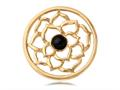 Nikki Lissoni Gold-tone 33mm Black Onyx Flower Coin