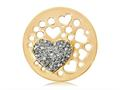 Nikki Lissoni Gold-tone 33mm Grey Swarovski® Catch My Heart Coin