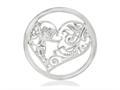 Nikki Lissoni Silver-tone 33mm Cupids Heart Coin