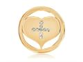 Nikki Lissoni Gold-tone 23.6mm Swarovski® Elements Cross My Heart Coin