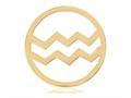 Nikki Lissoni Gold- Tone 33mm Aquarius Coin