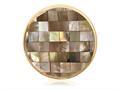 Nikki Lissoni Gold-tone 33mm Brown Shell Mosaic Coin