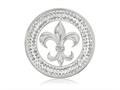 Nikki Lissoni Silver-tone With Clear Swarovski® 33mm French Sparkle Coin