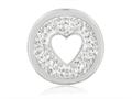 Nikki Lissoni Silver-tone 23.6mm Clear Swarovski® Love Is All Around Coin