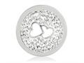Nikki Lissoni Silver-tone 23.6mm Clear Swarovski® Love Is All Around Coin