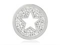 Nikki Lissoni Silver-tone 23.6mm Clear Swarovski® Sparkling Star Coin