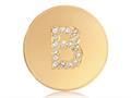 Nikki Lissoni Gold-tone 23.6mm Swarovski® Elements Initial B Coin