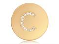 Nikki Lissoni Gold-tone 23.6mm Swarovski® Elements Initial C Coin