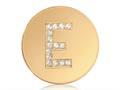Nikki Lissoni Gold-tone 23.6mm Swarovski® Elements Initial E Coin