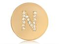 Nikki Lissoni Gold-tone 23.6mm Swarovski® Elements Initial N Coin