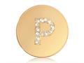 Nikki Lissoni Gold-tone 23.6mm Swarovski® Elements Initial P Coin