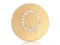 Nikki Lissoni Gold-tone 23.6mm Swarovski® Elements Initial Q Coin