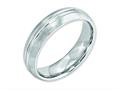 Chisel Cobalt Satin And Polished Grooved 6mm Weeding Band